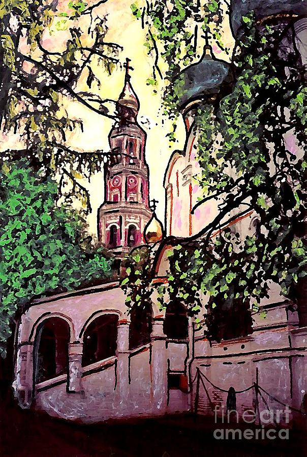 Sarah Loft Mixed Media - Moscow Church by Sarah Loft