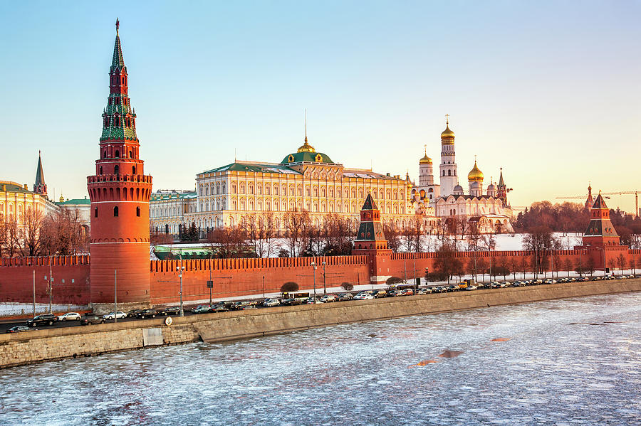 Moscow Kremlin And Cathedrals Photograph by Mordolff