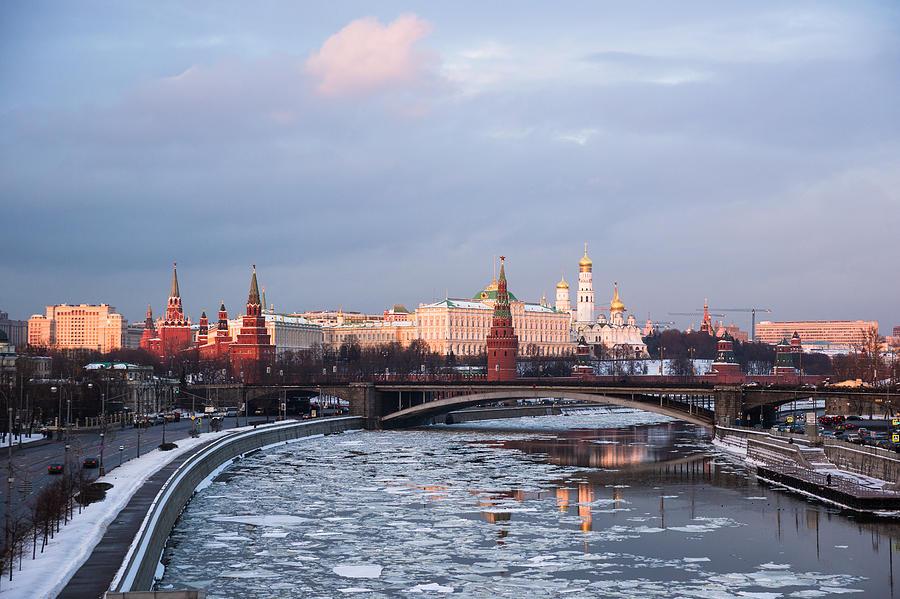 Russia Photograph - Moscow Kremlin In Winter Evening - Featured 3 by Alexander Senin