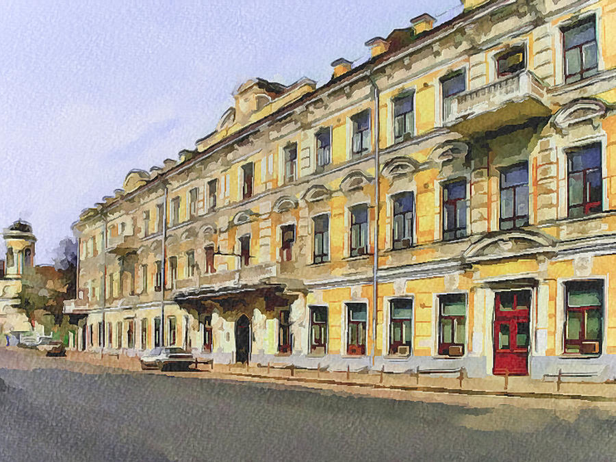 Moscow Digital Art - Moscow Old Streets 2 by Yury Malkov