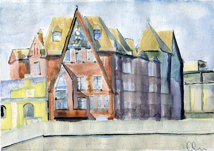 Moscow Painting - Moscow.pertsovs House by Lelia Sorokina