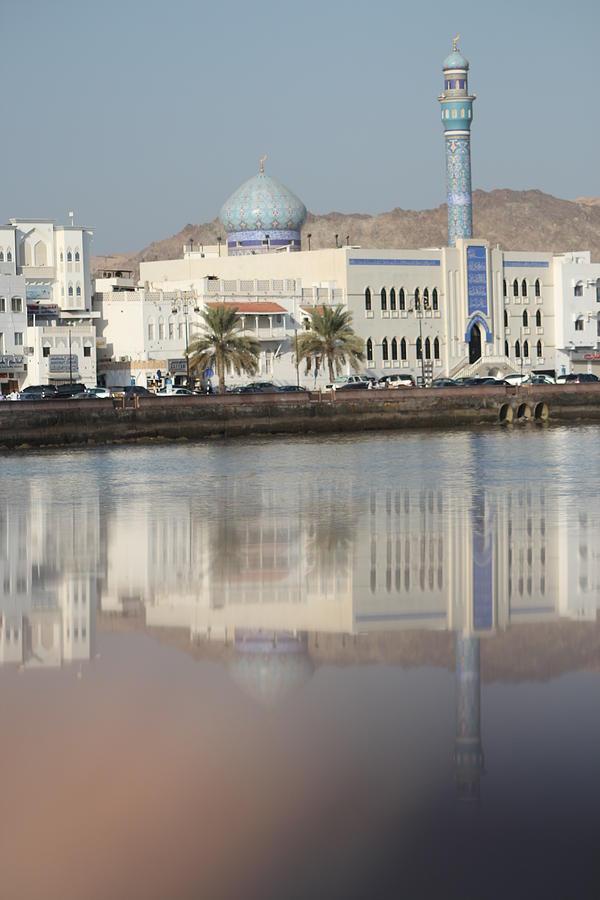 Mosque At Mutrah Kurnish - Oman Digital Art by Ibrahim Albalushi