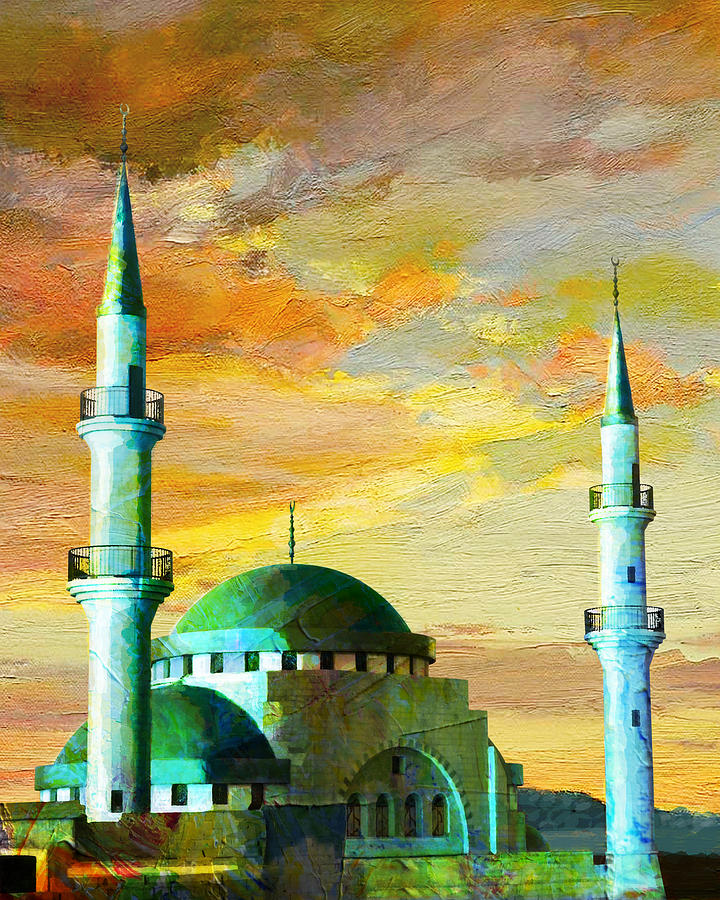 Mosque Jordan Painting by Catf