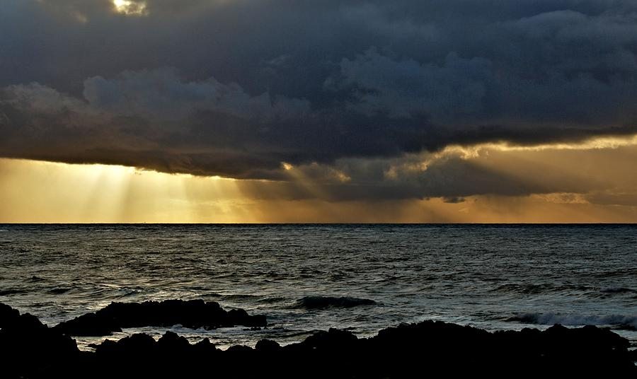 Photograph Photograph - Moss Beach Sunset Storm by Elery Oxford