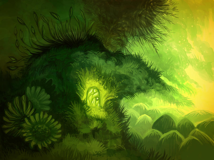 Moss Illustration Digital Art by Illustrations By Annemarie Rysz