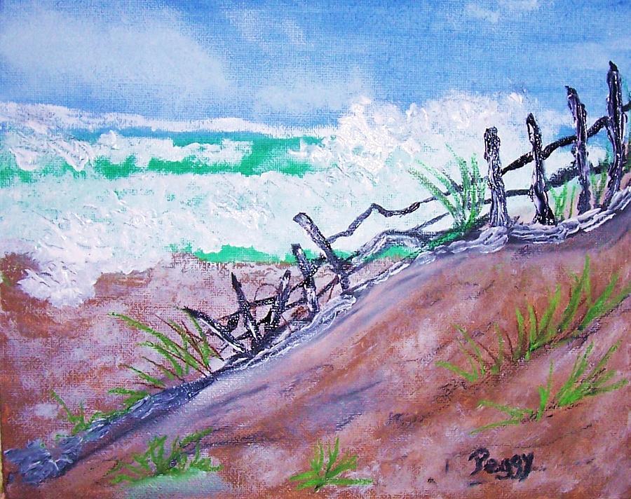 Moss Landing Beach Painting - Moss Landing Beach by Peggy Leyva Conley