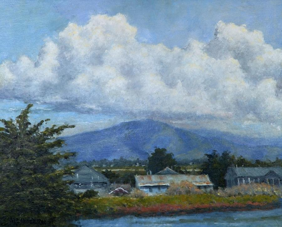 Clouds Painting - Moss Landing Clouds by Marv Anderson