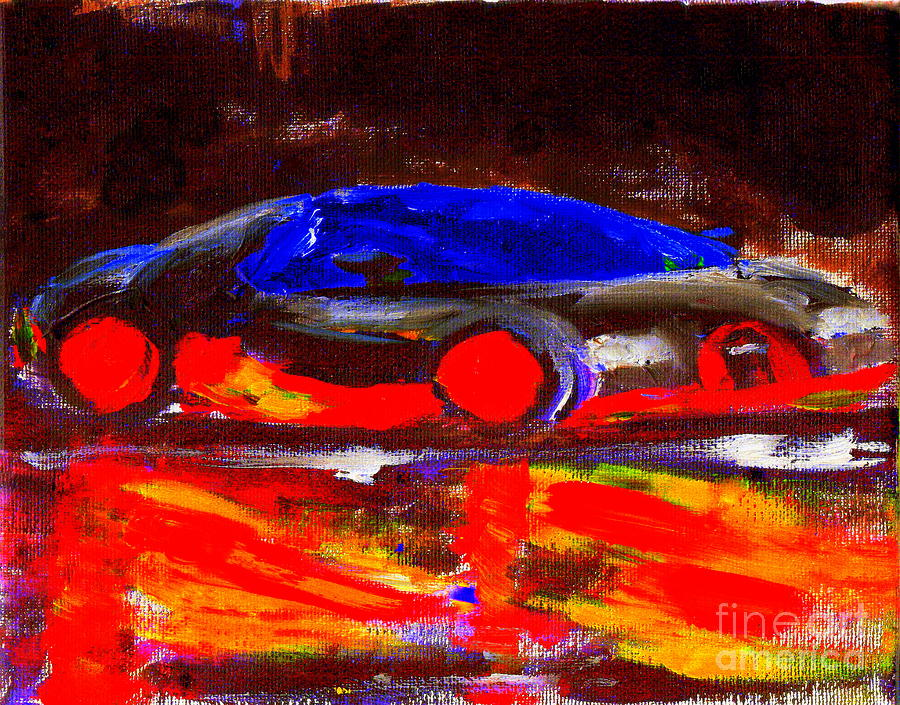 Bugatti Painting   Most Expensive Fastest Car Bugatti Veyron Super Sport 1  By Richard W Linford