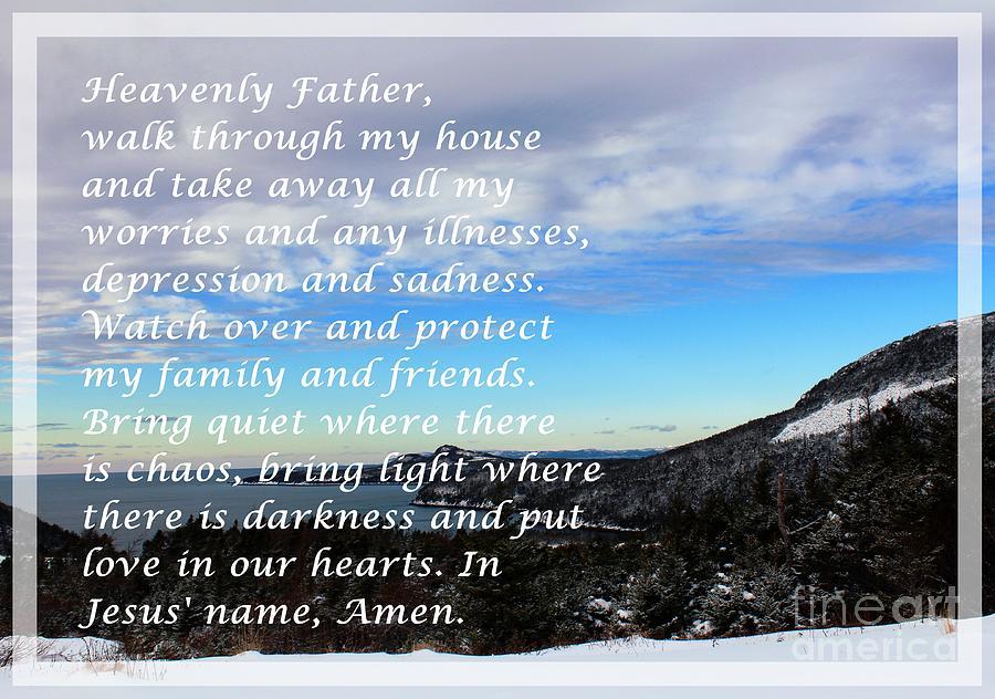 Winter Scene Digital Art - Most Powerful Prayer With Winter Scene by Barbara Griffin