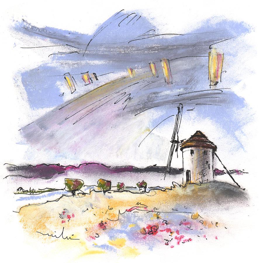 Travel Painting - Mota Del Cuervo 02 by Miki De Goodaboom