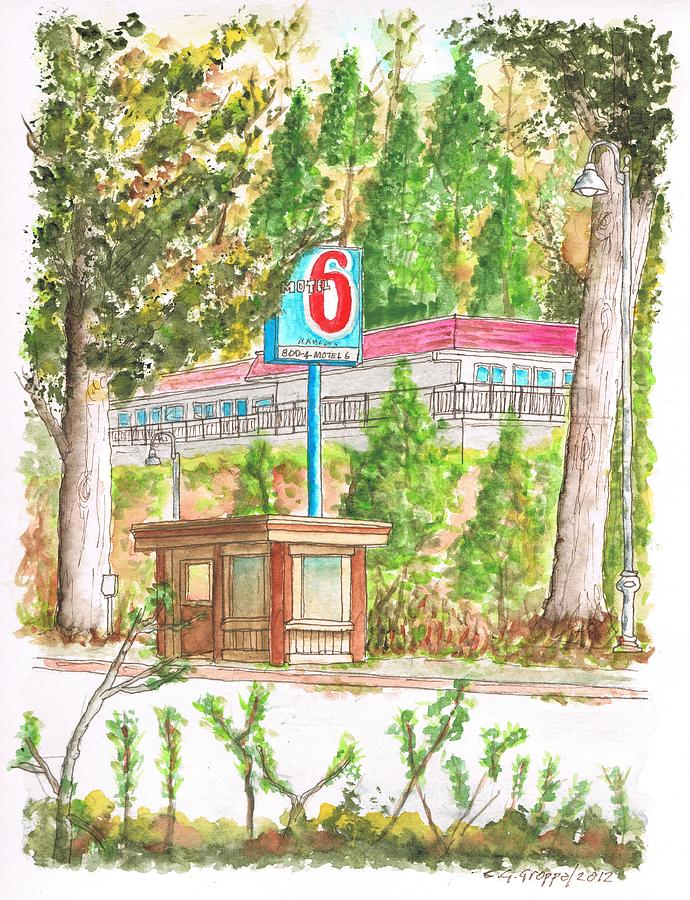 Motel 6 Painting - Motel 6 In Mammoth Lakes - California by Carlos G Groppa
