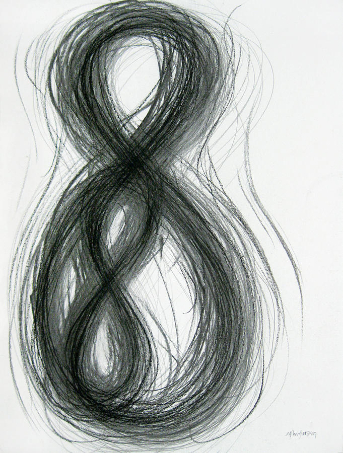 Mother And Child Drawing - Mother And Child Figure-eight Study by Michael Morgan