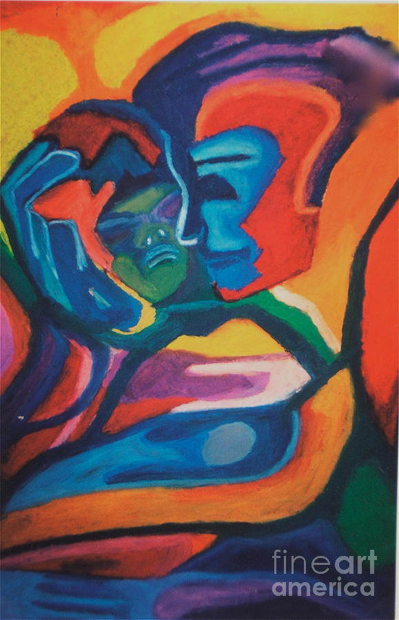 Mother And Child Pastel - Mother and Child by Jon Kittleson