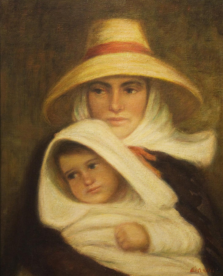 Mother Painting - Mother and Child by Michaelalonzo Kominsky