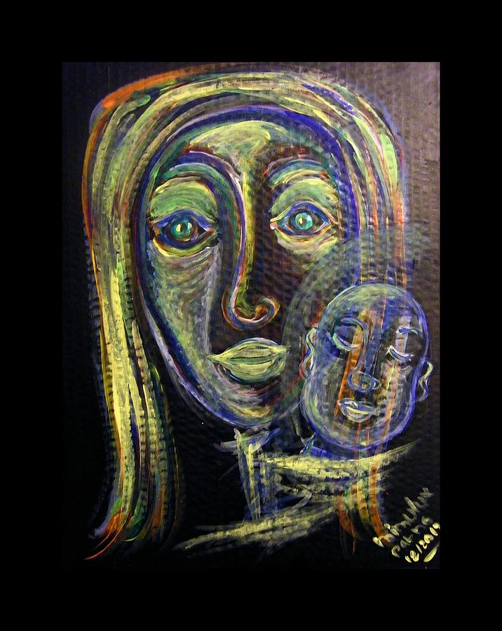 Mother Painting - Mother And Child by Mimulux patricia no No