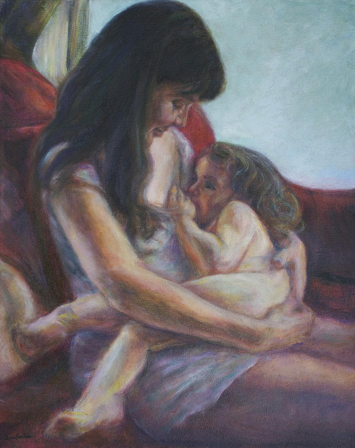 Portrait Painting - Mother and Child by Quin Sweetman
