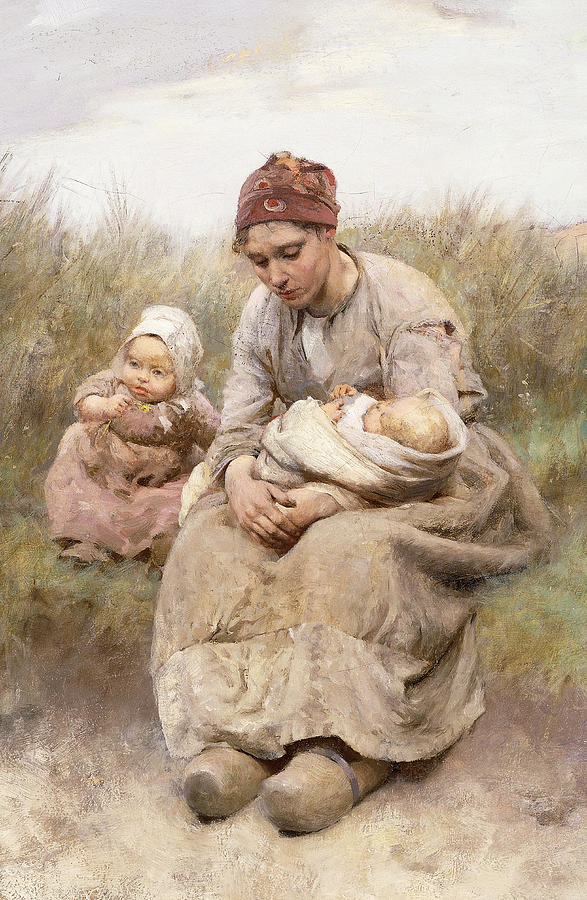 Mother And Child Painting by Robert McGregor