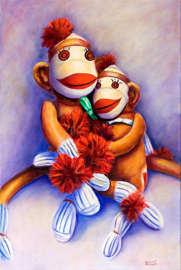 Children Painting - Mother And Child by Shannon Grissom