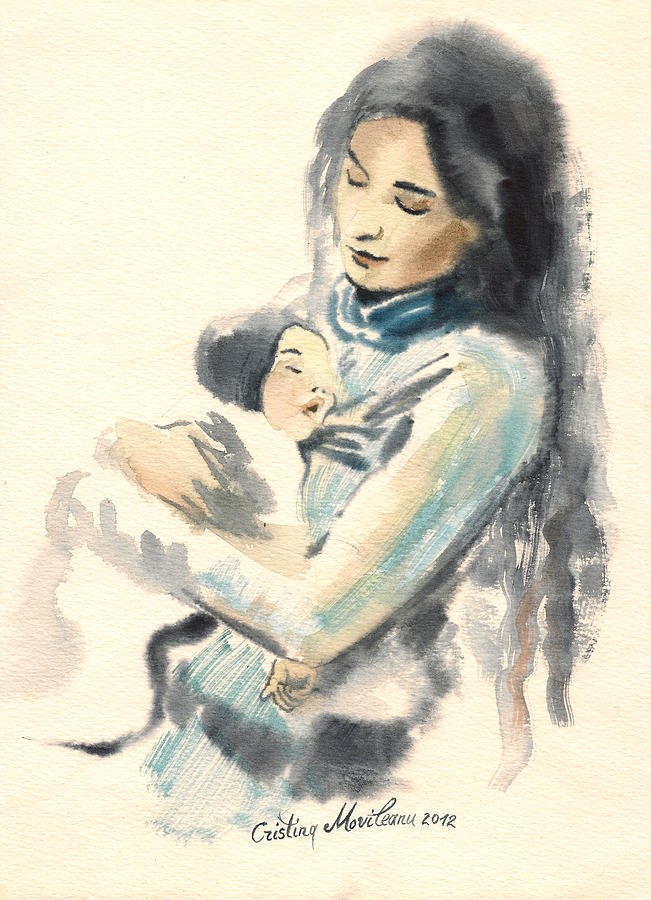 Mother And Child Paintings Modern Art