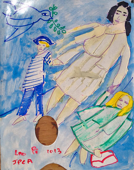 Mother And Childs Painting by Chevassus-agnes Jean-pierre