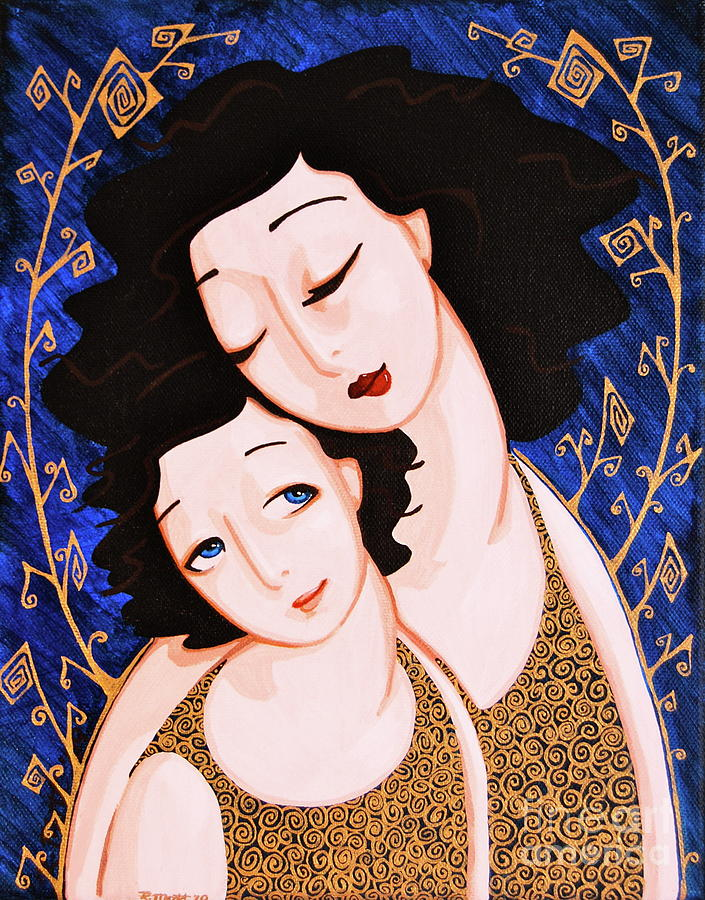 Mother Painting - Mother And Daughter by Rebecca Mott