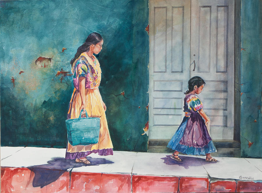 Mother And Daughter Painting By Renae Hill
