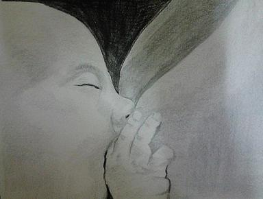Mother Care Drawing - Mother Care by Susana Correia
