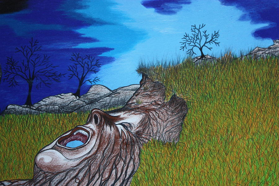 nature drawing drawing mother earth cryin out by dennis nadeau