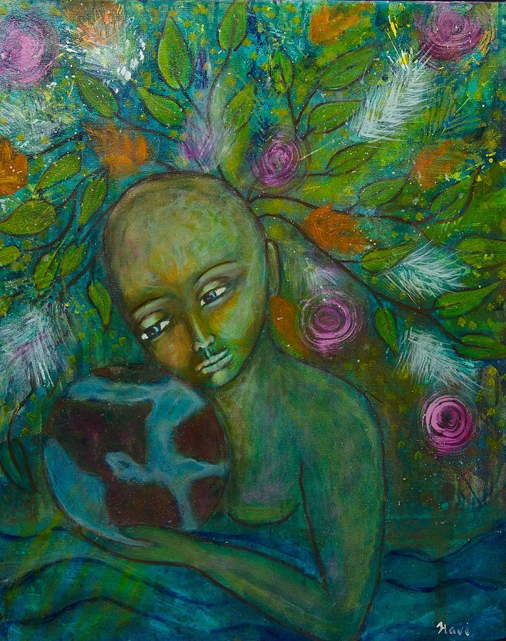 Mother Earth Painting - Mother Earth by Havi Mandell
