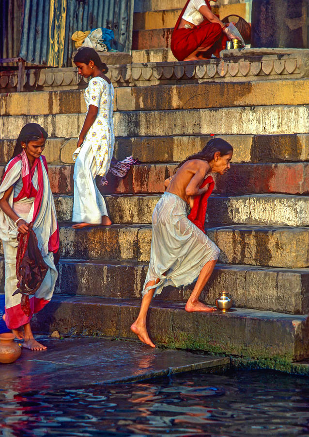 Varanasi Photograph - Mother Ganges by Steve Harrington