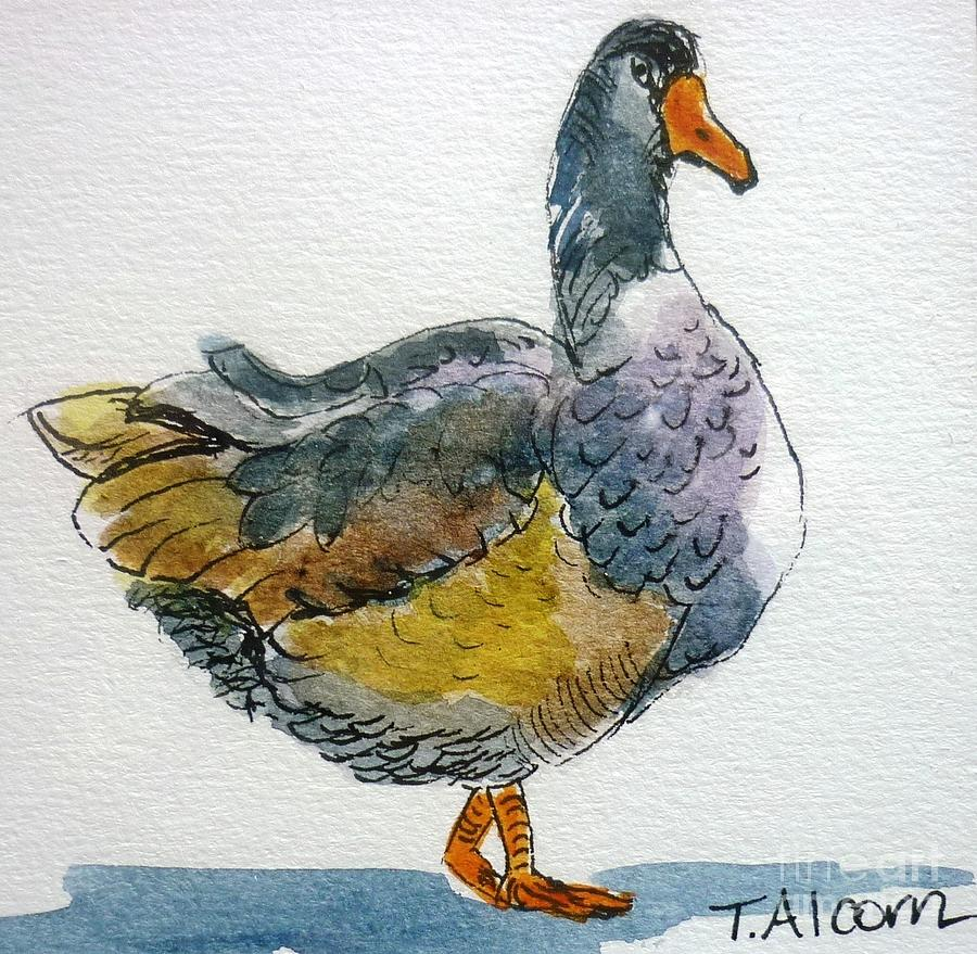 Goose Painting - Mother Goose - Original Sold by Therese Alcorn