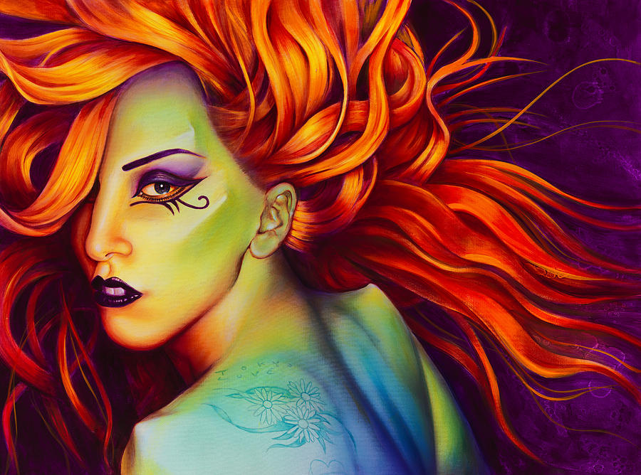 Lady Gaga Painting - Mother Monster by Scott Spillman