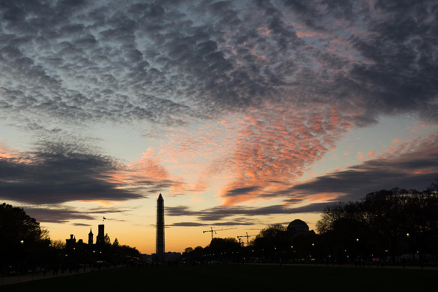 Sunset Photograph - Mother Nature Painted The Sky Over Washington D C Spectacular by Georgia Mizuleva
