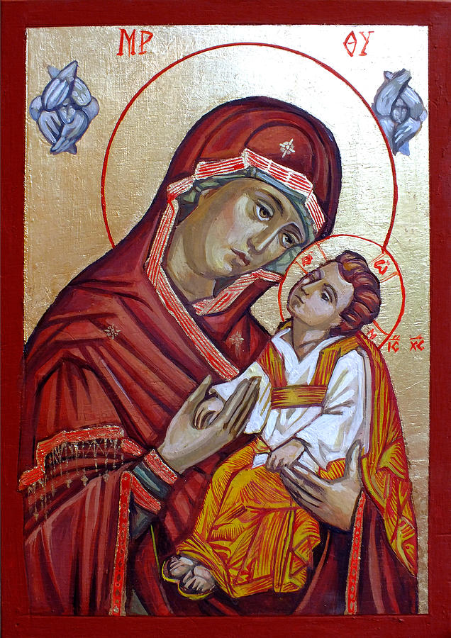 Eastern Orthodox Icons Painting - Mother Of God by Filip Mihail