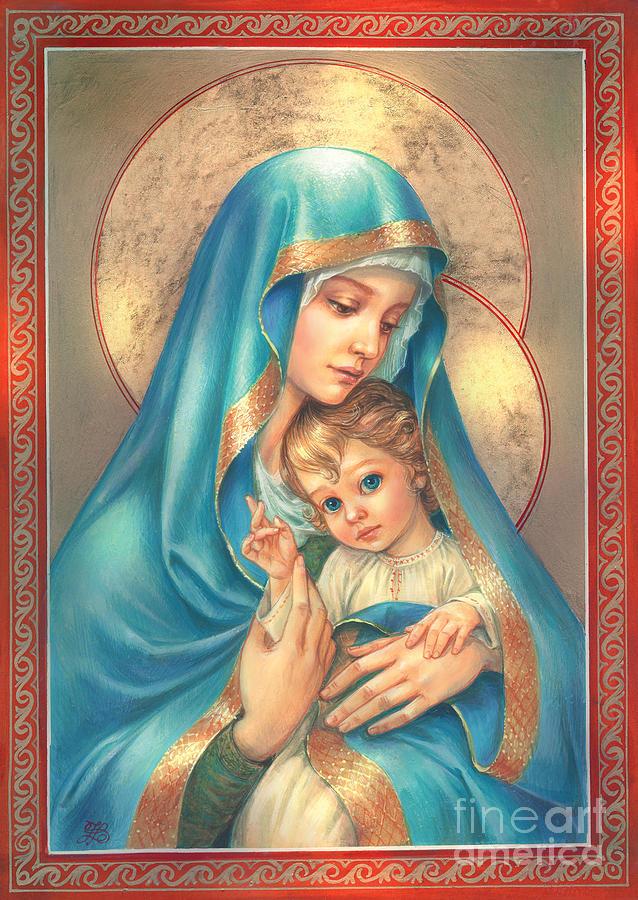 Mother Of God Digital Art - Mother Of God by Zorina Baldescu
