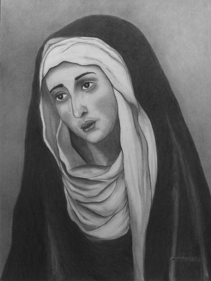 Mother of Sorrows version 2 by Alma Bella Solis
