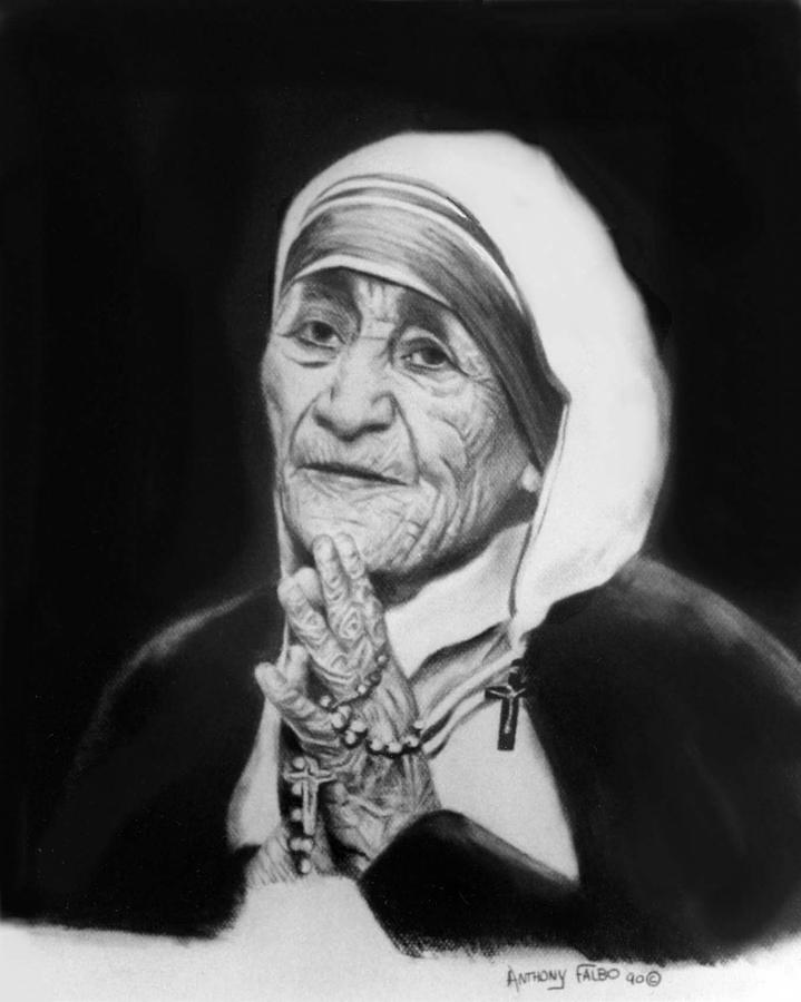 Mother Teresa Painting - Mother Teresa by Anthony Falbo