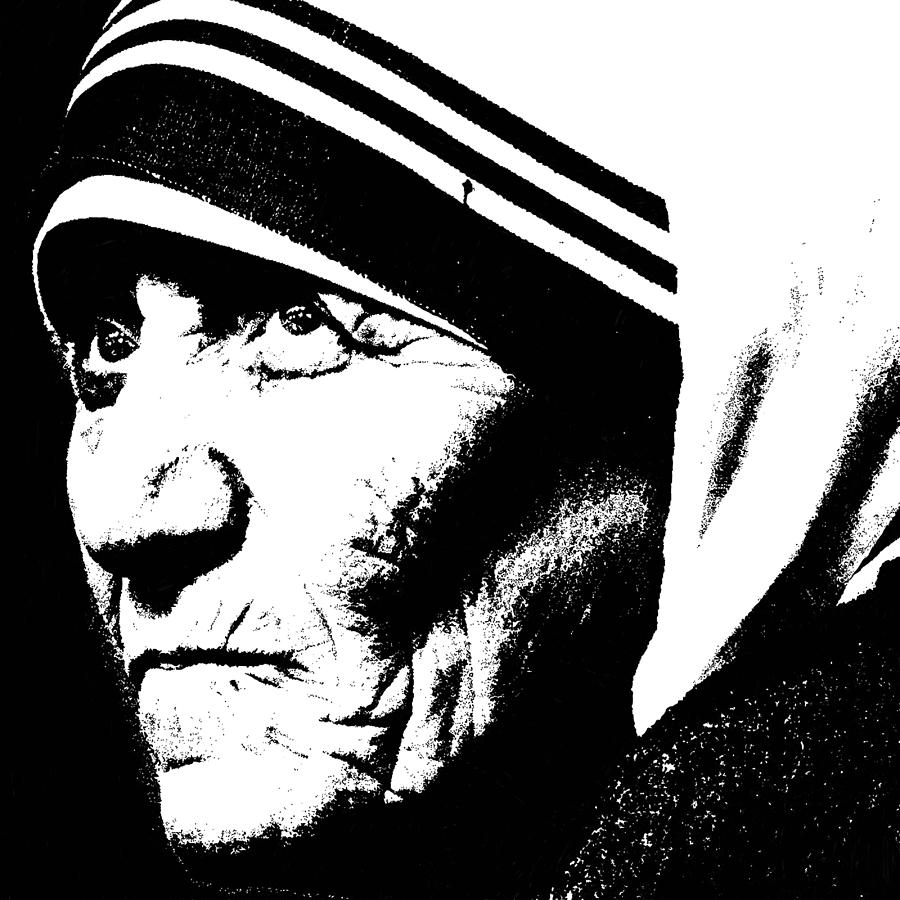 Mother Teresa Digital Art - Mother Teresa by Penny Ovenden