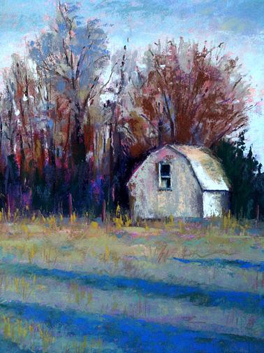 Arkansas Pastel - Mothers Back Yard by Sandra Ortega