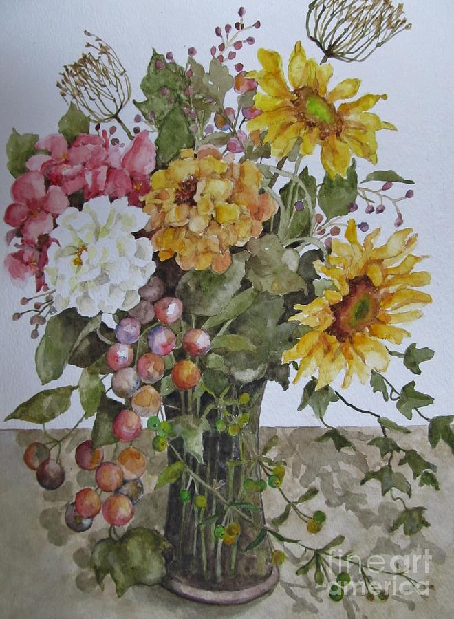 Floral Painting - Mothers Day Bouquet by Karen Olson