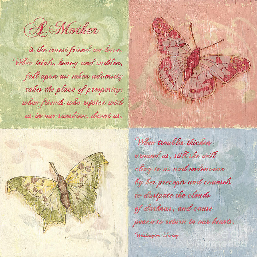 Mother Painting - Mothers Day Butterfly by Debbie DeWitt