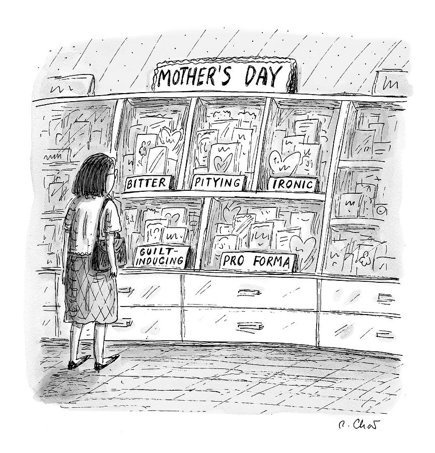 Mothers Day Cards Drawing by Roz Chast