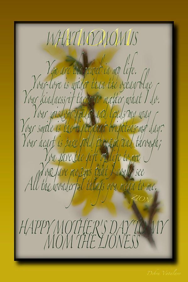Holiday Card Photograph - Mothers Day Plaques by Debra     Vatalaro