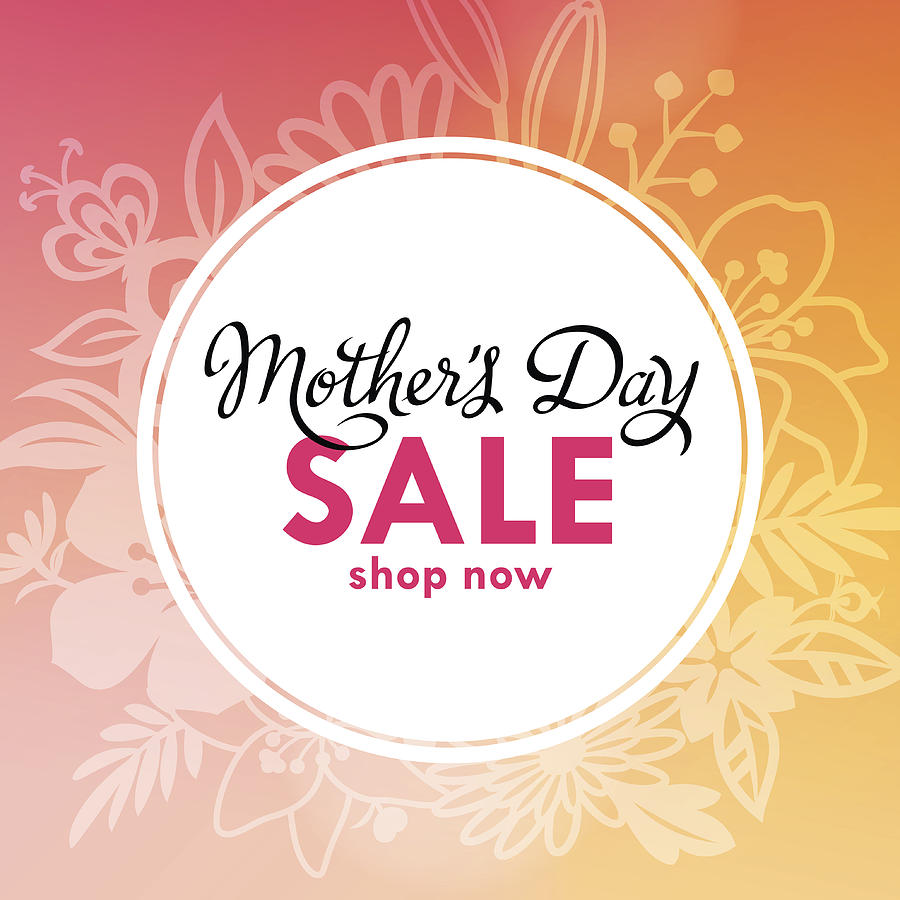 Mothers Day Sale Lable Drawing by Exxorian