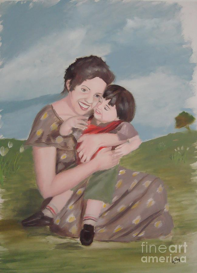 Mother Painting - Mothers Love by Angela Melendez