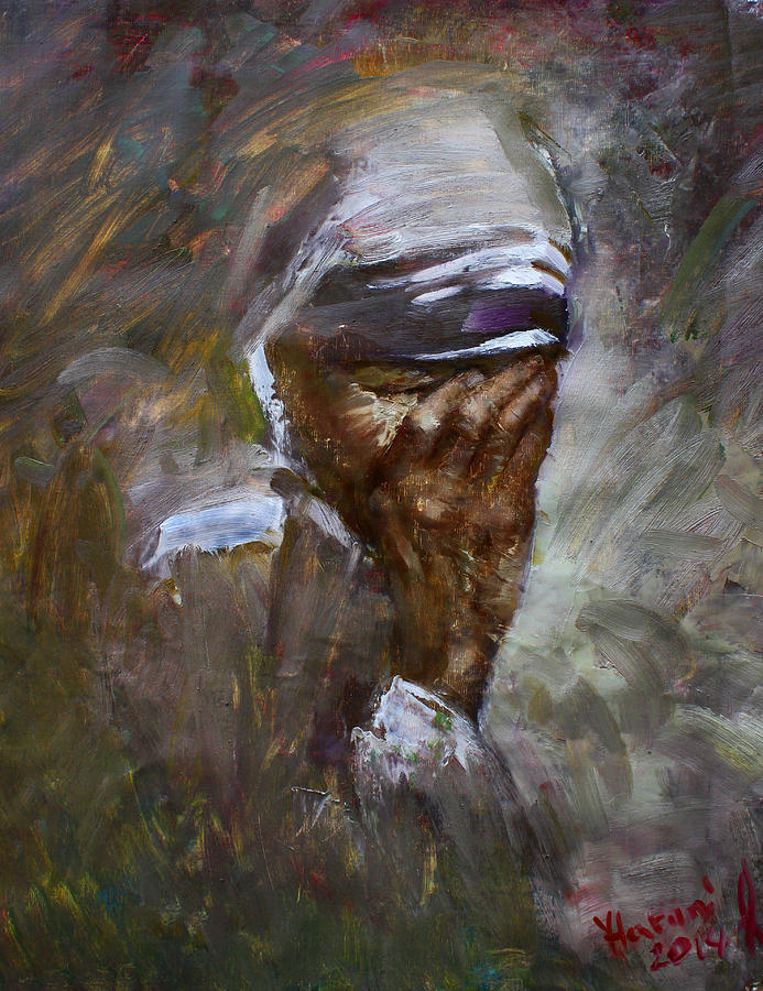 Mother Teresa Painting - Mothers Pain by Ylli Haruni