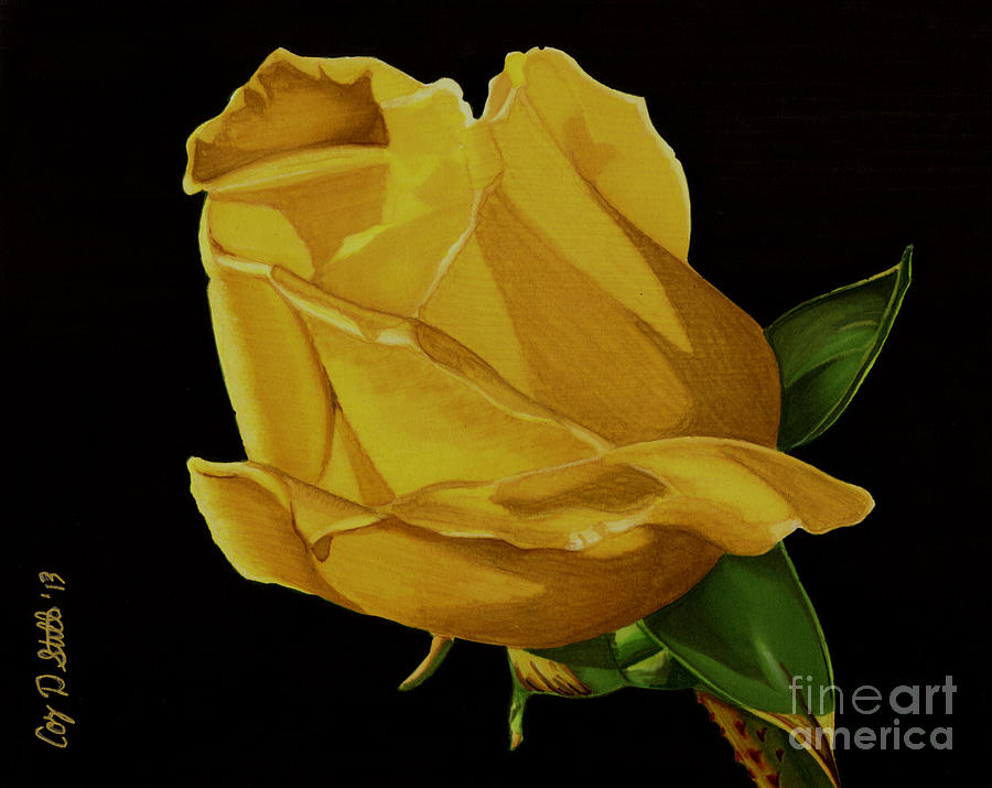 Mother's Yellow Rose by Cory Still