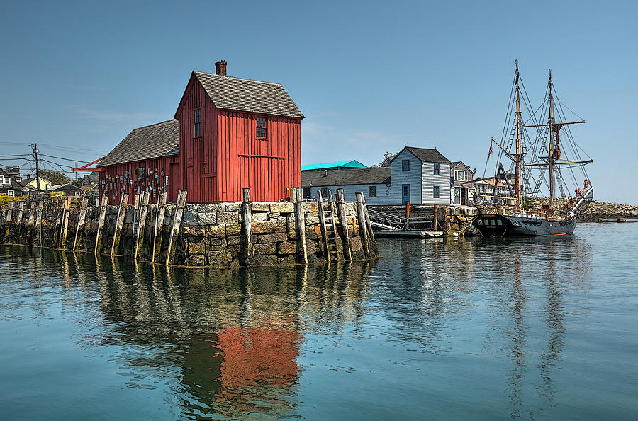 Rockport Photograph - Motif #1 And The Pirate Ship Formidable by Liz Mackney