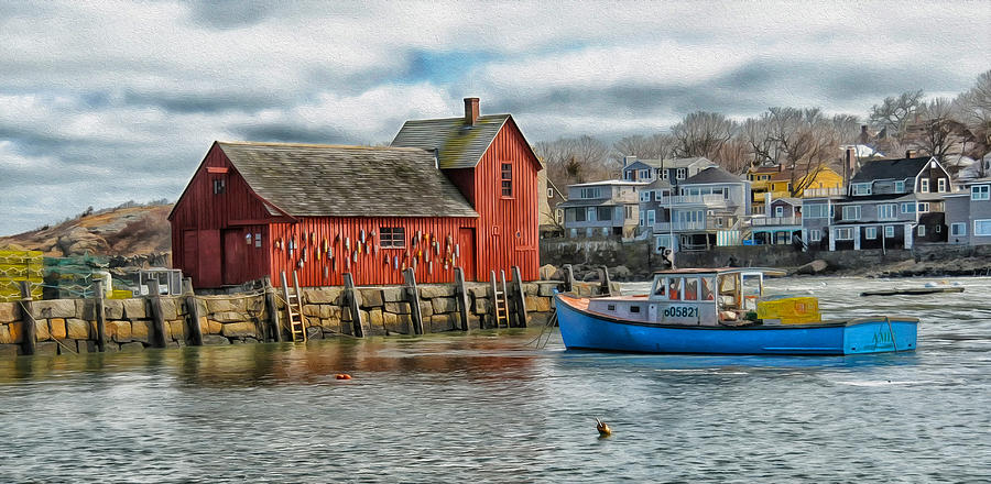 Massachusetts Photograph - Motif #1 Watches Over The Amie V2 by Liz Mackney