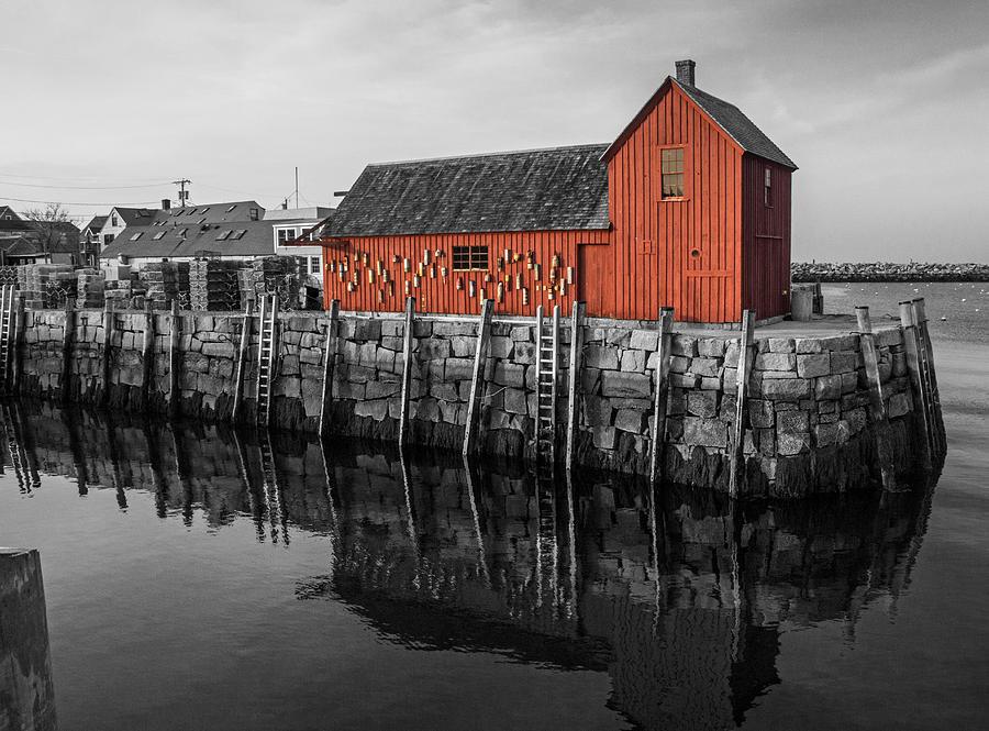 New England Photograph - Motif no 1 Black and White by Nancy De Flon